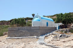 The Chapel of St Nicolas on Plati island. The Chapel of St Nicolas, patron saint of sailors, on the uninhabited greek island of Plati, near Kos Royalty Free Stock Image