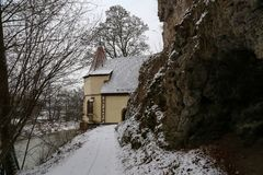 The chapel of St. Wendel to the Stein, Germany. The chapel of St. Wendel to the Stein, Doerzbach, Germany stock photos