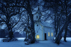 Chapel St. Wolfgang in winter in Bavaria Royalty Free Stock Photo