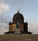 Chapel and statue of saint Cyril and Metod in Radh Stock Image