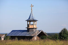 Chapel in the summer field Royalty Free Stock Image