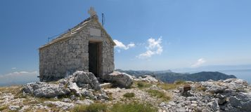 Chapel on Sv. lja - one of peaks of Biokovo. Stock Image