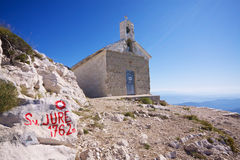 Chapel on Sveti Jure. Christian chapel on Sveti Jure, highest mountain of Biokovo nature park on Makarska Riviera in Croatia Royalty Free Stock Images