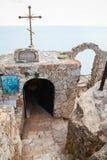 Chapel Sveti Nikola at the cape tip. Kaliakra Stock Photo