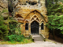 Chapel Temple Forest Rock Religion Royalty Free Stock Image