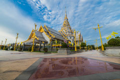 Chapel of Thai temple Royalty Free Stock Photography