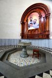 Chapel to Murdered Priests in San Pedro Cathedral in New Chimbote Peru. New Chimbote, Peru - April 16, 2018: Chapel to three priests murdered in 1991 in San royalty free stock image