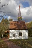 The chapel to the seven pains of Marien in Hagen on the Teutoburg forest, area Gellenbeck in the Osnabrück country, was built in Stock Photo