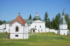 Chapel-tomb and Church, svyatoozersky Valdai Iversky Bogoroditsky monastery Stock Image