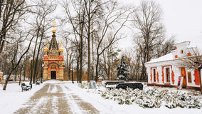 Chapel-tomb of Paskevich and Vetka Museum of Old Believers and Belarusian traditions in Gomel, Belarus Royalty Free Stock Photos