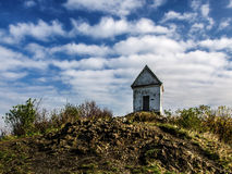 Chapel on top of the hill Stock Image
