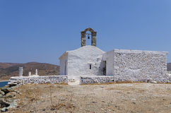 Chapel on top of a hill in Kythnos island, Cyclades, Greece. Chapel on top of a hill in Kythnos island, Cyclades Stock Images