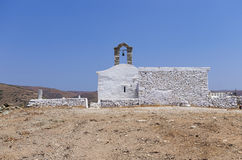Chapel on top of a hill in Kythnos island, Cyclades, Greece Stock Photography