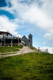 The chapel at the top of Hohe Salve. Mountain, Alps - Austria, Hopfgarten Stock Photo