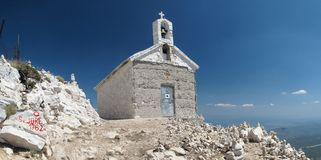 Chapel on the top of Sveti Jure Stock Image