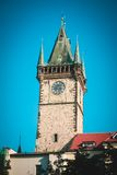 Chapel Tower in Prague. Big building of Chapel Tower in Prague Royalty Free Stock Image