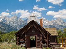 Chapel of the Transfiguration and Tetons Stock Photos