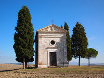 Chapel with trees Stock Photography