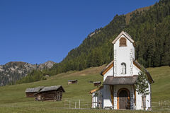 Chapel on the Tschey meadow in Tyrol Stock Photos