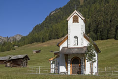 Chapel on the Tschey meadow in Tyrol Royalty Free Stock Image