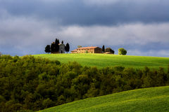 Chapel in Tuscany. Old Chapel in Tuscany, Italy Landscape, Orcia Valley Stock Photos