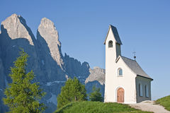 Chapel on Val Gardena Stock Photo