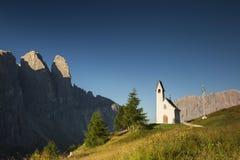 Chapel in Val Gardena, Dolomites in northern Italy Stock Image