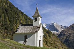 Chapel in valley Vals Royalty Free Stock Photo