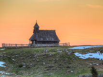 The chapel on Velika planina Royalty Free Stock Photography