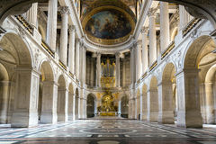 Chapel in Versaille Palace. Great Hall Ballroom of chapel in Versaille Palace Paris France Royalty Free Stock Photos