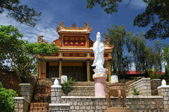 Chapel in Vietnam with statue Royalty Free Stock Photos
