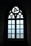Chapel viewed from window of Castle Bezdez Stock Images