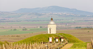 Chapel with vineyard, Czech Republic Royalty Free Stock Photo