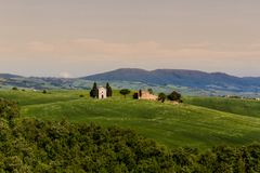 Chapel Of Vitaleta In San Quirico D`Orcia royalty free stock photography