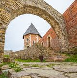Chapel and walls on Medvedgrad castle Stock Photos