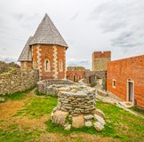Chapel and walls on Medvedgrad castle Stock Photography