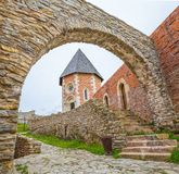 Chapel and walls on Medvedgrad castle. In Zagreb, Croatia Royalty Free Stock Photo