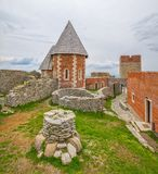Chapel and walls on Medvedgrad castle. In Zagreb, Croatia Stock Images
