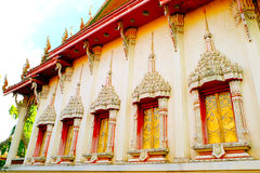 The chapel of Wat Bancheetrun. In Ubonratchathani Thailand Royalty Free Stock Photography
