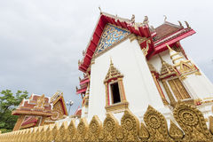 The chapel of Wat Buraparam in Surin Thailand Stock Images