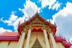 The Chapel of  Wat Pho Chai temple. The Chapel of  Wat Pho Chai temple in Nong Khai, Thailand Royalty Free Stock Photos