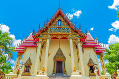 The Chapel of  Wat Pho Chai temple. The Chapel of  Wat Pho Chai temple in Nong Khai, Thailand Stock Photos