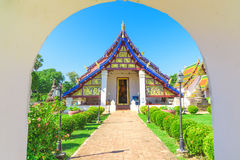The chapel of Wat Phra Borom That Thung Yang temple. Stock Image