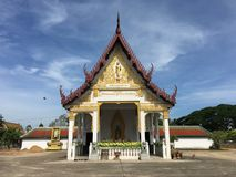 Chapel. In Wat Phra That Chaiya, Suratthani, Thailand Royalty Free Stock Photography