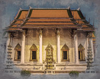 The Chapel of Wat Suthat. The temple of Rama 8 reign at the Giant Swing in Bangkok in Thailand Stock Images