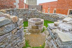 Chapel well in Medvedgrad castle Royalty Free Stock Photo