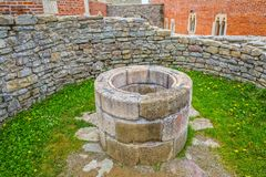 Chapel well in Medvedgrad castle Royalty Free Stock Photography