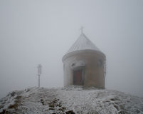 Chapel in winter Royalty Free Stock Images