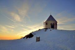 Chapel in winter Stock Photos