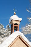 Chapel in winter time Stock Photography